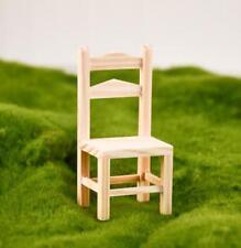 1:12 Dollhouse Miniature Furniture Wooden Chair Living Room Backrest Chair@