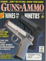 Guns & Ammo Magazine March 1990 - Handguns - Rifles - Shotguns - NINES
