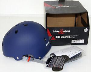 Triple 8 Multi Sport Helmet Size XS / S Blue Dual Certified - New
