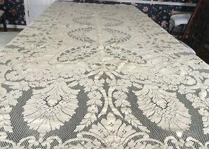 Vintage Quaker Lace Ecru Tablecloth