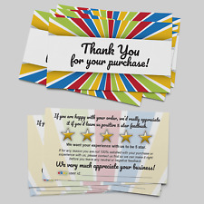 100 Quality ebay Thank You Seller Card Business Cards 5 Star Feedback Rating