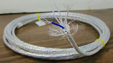 10 feet 24 AWG Precision Shielded Silver Plated Clear PTFE Wire Twisted Pair
