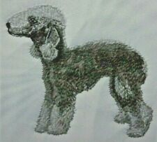 Bedlington Terrier Dog Bathroom Set 2 Hand Towels Embroidered Personalized