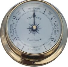 "4 1/2"" RAISED BRASS TIDE CLOCK BY WEST & CO."