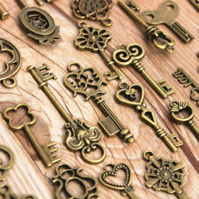 70pcs Collectable Retro Keys Antique Old Look Metal Bow Pendant Skeleton Vintage