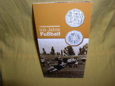 Österreich 5 Euro Silber 2004 hgh  Fussball gr. Blister