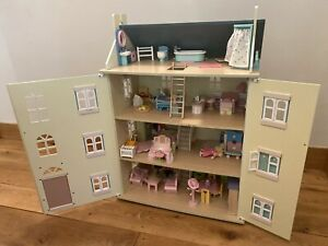 Le Toy Van Dolls House - Cherry Tree Hall - Full Of Le Toy Van Wooden Furniture.