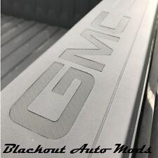 2014-2018 GMC Sierra Bed Rail Letter Inserts Carbon Fiber Vinyl Decals Set of 2