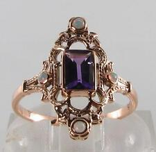 9 Carat Amethyst Rose Gold Vintage Fine Jewellery
