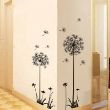 Adesivi murali della parete della camera da letto nera del dente di leone autoND