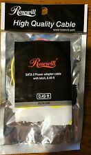 *Brand NEW Rosewill Serial ATA II Power Adapter Cable With Latch 0.49Ft