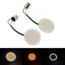 2X LED Turn Signals Running Lights 1157 LED Inserts Amber White For Harley