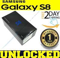Samsung Galaxy S8 SM-G950U1 64GB Midnight Black (FACTORY UNLOCKED) ❖O/B❖(w)