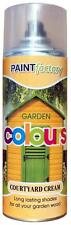 x5 Courtyard Cream Garden Aerosol Spray Paint Lasting Shades For Wood 400ml
