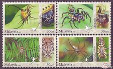 [SS] Malaysia 2009 Arachnid Spider STAMP SET