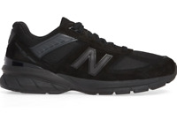"""New Balance """"Made in USA"""" Men 990v5 BB5 Suede Runners, Black"""