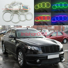 4pcs RGB Multi-Color Angel Eyes kit Halo Ring For INFINITI FX35 FX45 2003-2008