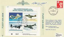 JSF6b 16 May 89 BFPS 2200 75th Anniv RN Air Service. Flown in Harvard Pilot Sign