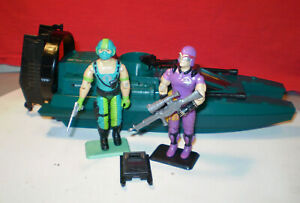 1984 GI JOE COBRA WATER MOCCASIN & SWAMP PILOT COPPERHEAD 100%+ GUNNER SEASLUG *