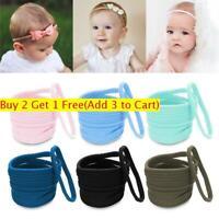10Pcs/lot Nylon Hairband Baby Elastic Head Band Girls Hair Bows Soft Headband