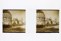 Italia Pisa Foto Placca P45L5n12 Lente Positivo Stereo