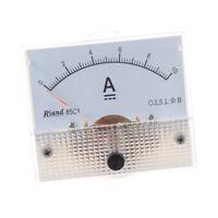 1X(85C1 0-10A DC Amperemetre analogique rectangle J6X4) f5