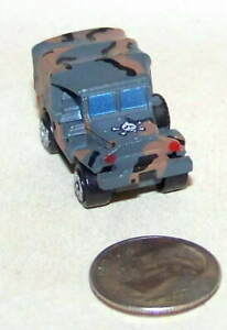 Small Micro Machine WWII type M-37 Weapons Carrier in Brown & Gray Camouflage