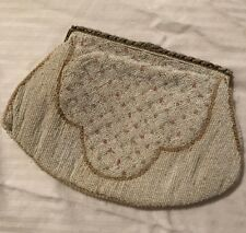 Antique Seeded Beaded Purse Made In Belgium