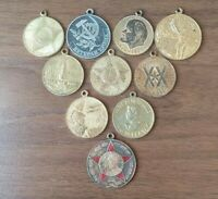 Lot of 10 Original awards of the Soviet Union medals tokens Labor