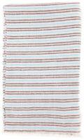 Neuf Luigi Borrelli Bleu Clair Rayé Longue Écharpe - 68.6cm x 152cm - (LBSS1295)