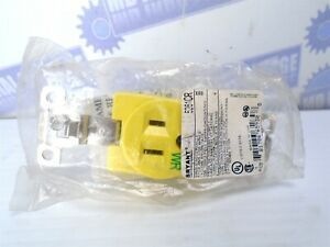 BRYANT 5261CR Yellow INDUSTRIAL Corrosion Resistant 120V 15A RECEPTACLE (NEW)