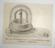 1884 Wiedemann's Galvanometer for Strong Currents Engraving