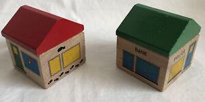 Vintage Brio Wooden Train Set Accessories Buildings (ELC, Thomas)