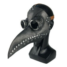 Plague Doctor Mask Halloween Costume Bird Long Nose Beak Pu Leather Steampunk Us