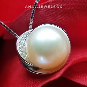 Genuine 925 Silver Pearl Necklace Mothers Day Jewellery for Mum Nan FREE Gift Ba
