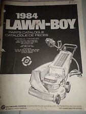 Vintage Original Factory Lawn-Boy 1984  Mower Parts Catalog