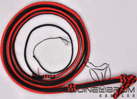 Equinelibrium's 8 Foot, 10 Foot, 16 Plait Budget Red & Black Nylon bullwhip