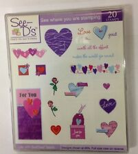 See D's Clear ink stamps starter sets kits Docrafts rubber block printing