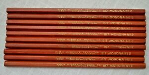 Lot 10 Vintage Wood Pencils Musgrave Monona No 2 817 No Eraser