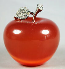 Beautiful Natural Red Cat's Eye Crystal Apple Figurine Decoration Crystal Gift