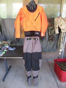 Kokatat Hydrus 3L Orange & Black Meridian Dry Suit, Men's SMALL