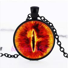 Dragon eye Photo Glass Pendant Black Necklace for man woman Jewelry