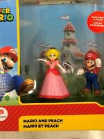 NEW Jakks Super Mario, Mario And Peach Figurines, Walgreens Exclusive 2-Pack!