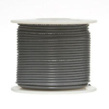 "16 AWG Gauge Stranded Hook Up Wire Gray 250 ft 0.0508"" PTFE 600 Volts"