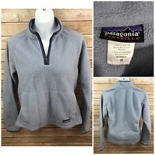 Women's Patagonia Synchilla Fleece Pullover 1/2 Zip Jacket Size Med Blue Purple