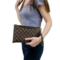 Luxury Checkered Crossbody & Clutch Bag