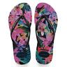 Havaianas Women`s Flip Flops Slim Tropical Sandal Black Sandals NWT