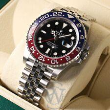 Rolex GMT-Master II Blue & Red Ceramic Bezel PEPSI 126710blro Complete Unworn
