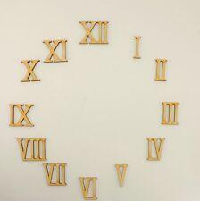 Romana Numeri Cifre 1 fino a 12 ,Legno, in 35mm Altezza per bricolage Orologi