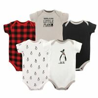 Hudson Baby Bodysuits, 5-Pack, Boy Penguin